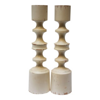 Murmann Distressed Danish Candlesticks - A Pair