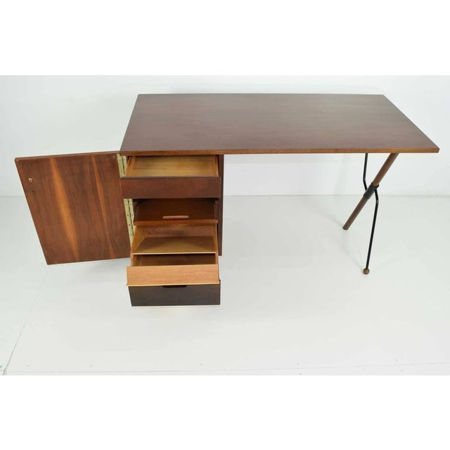 Greta Grossman Walnut Desk by Glenn of California - Image 3 of 7