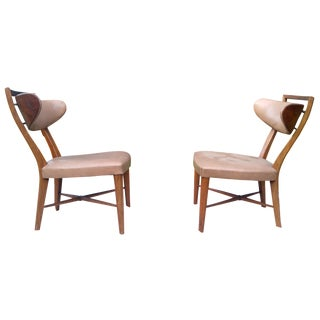 Mid-Century Slipper Chairs by Drexel - A Pair
