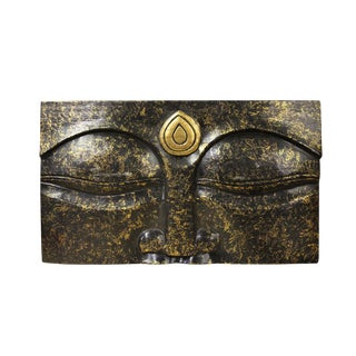 Buddha's Eye Of Wisdom Wood Craving Wall Panel