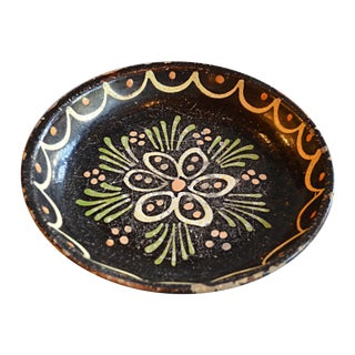 French Hand-Painted Terracotta Bowl