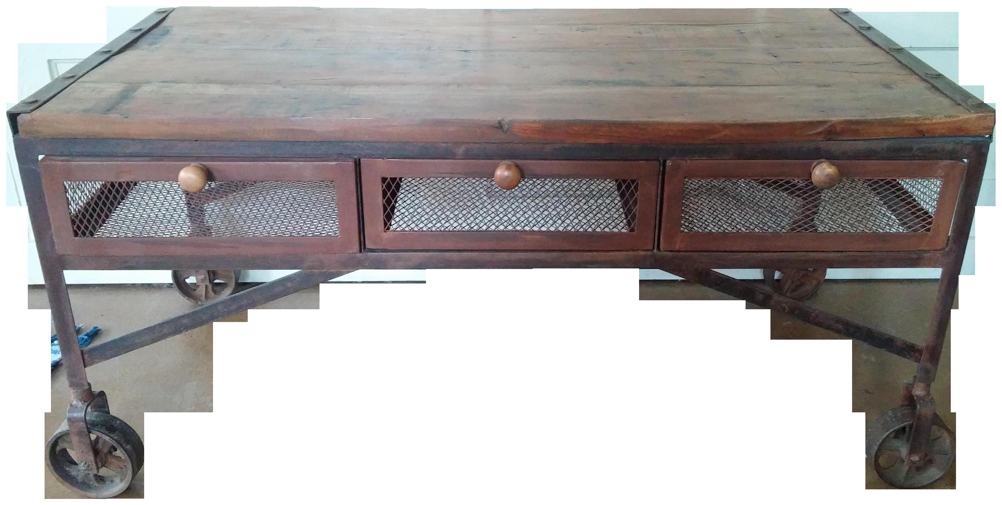 Vintage Used Industrial Coffee Tables Chairish