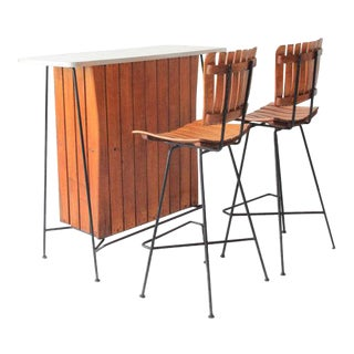 Arthur Umanoff for Raymor Bar and Bar Stools Set