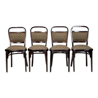 Set of 4 Otto Wagner Bentwood Chairs