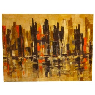 Abstract Art Modernist Painting - Cityscape