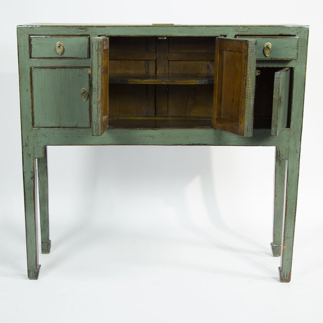 Image of Green Lacquer Console