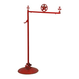 Red Metal Texas Sign Pole