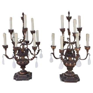 Rock Crystal Candelabras - A Pair