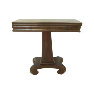 Flame Mahogany Empire Game Table/Console
