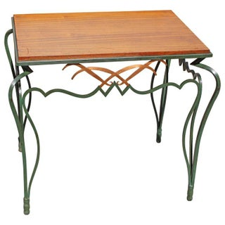 French Art Deco Wrought Iron Accent Table