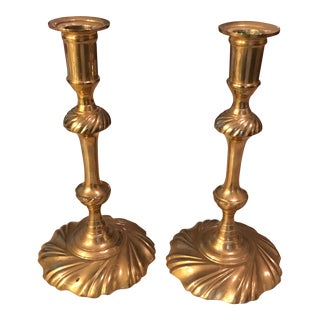 Mottahedeh Brass Candle Holders - a Pair