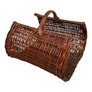 60's Natural Wicker Magazine Holder