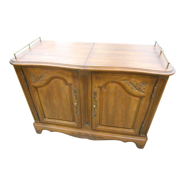 Mid-Century Hickory Furniture Co. Rolling Buffet Server - Image 1 of 6