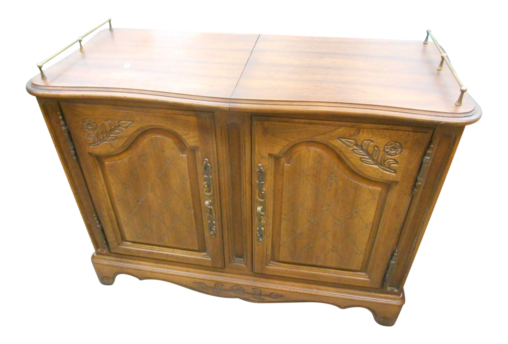 Mid Century Hickory Furniture Co. Rolling Buffet Server   Image 1 Of 6
