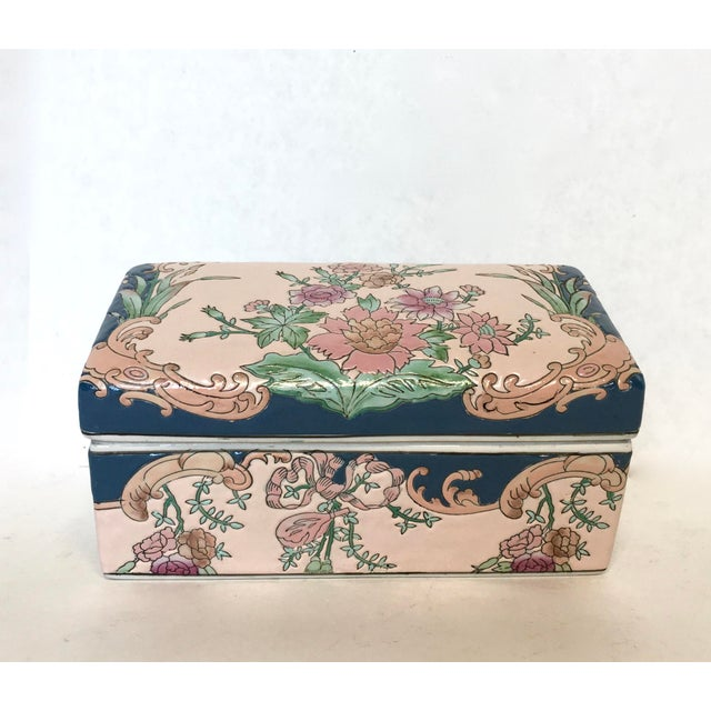 Chinese Hand-Painted Porcelain Lotus Box - Image 2 of 5