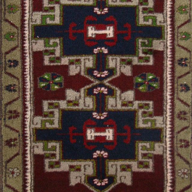 Image of Vintage Geometric Turkish Yastik Rug - 1′9″ × 2′10″