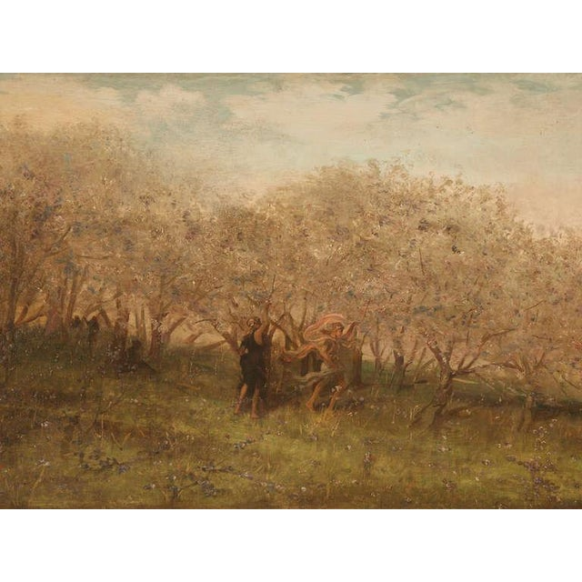 """Amazing 9'8"""" Original Antique French Panoramic Oil Painting on Linen - Image 3 of 10"""