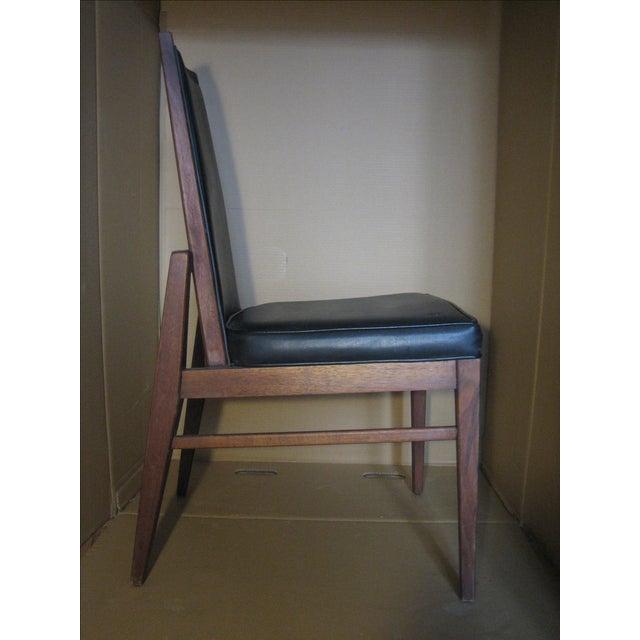 Image of Original 1950's Walnut & Naugahyde Chair