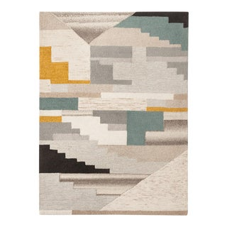 Multicolor Abstract Tufted Area Rug- 5' x 7'