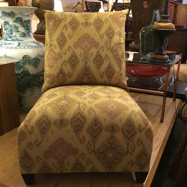 Donghia Villa Custom Ikat Chair - Image 3 of 11