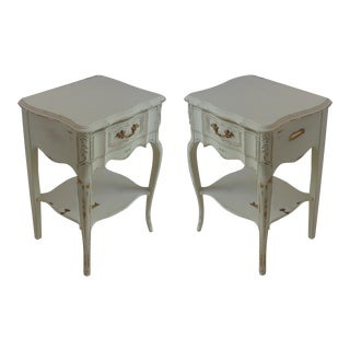 Vintage French Style Nightstands - A Pair