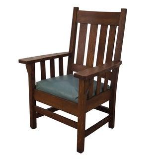 Antique Mission Oak Armchair by Elbridge Chair Co.