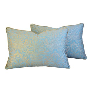 Italian Mariano Fortuny Campanelle Feather/Down Pillows - A Pair