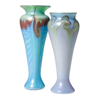 Vandemark Art Glass Vases- Set of 2