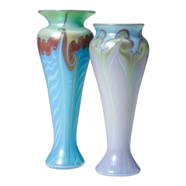 Image of Vandemark Art Glass Vases- Set of 2