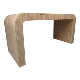 Stylish Faux Bamboo Decorator Style Writing Desk