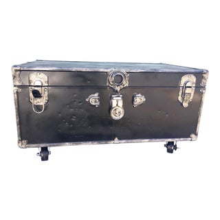 Upcycled WWII Trunk on Wheels