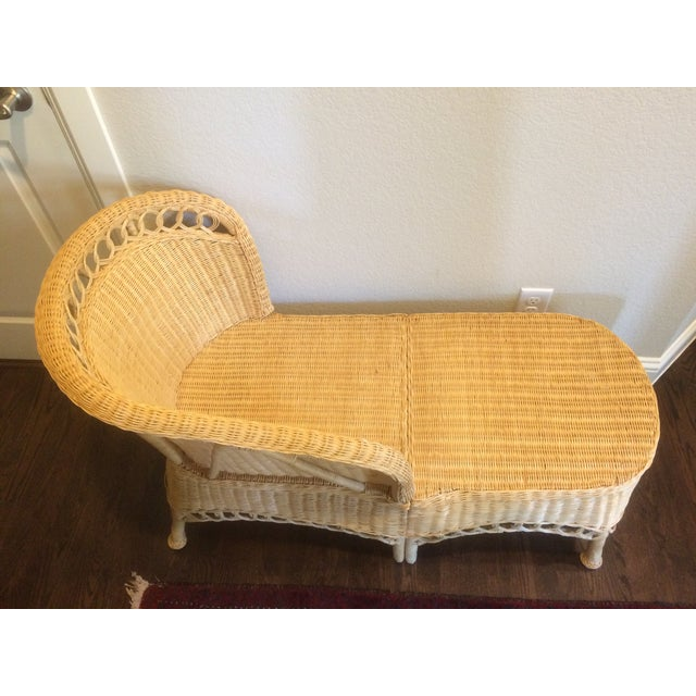 Vintage Wicker Chaise Lounge Chairish