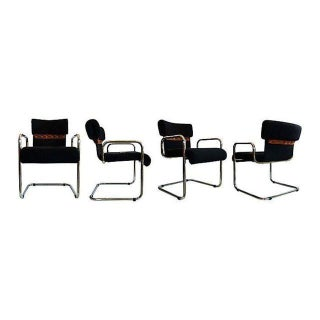 Pace International Cantilevered Chairs - Set of 4