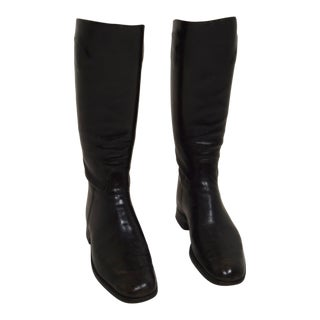 Vintage English Leather Riding Boots - a Pair