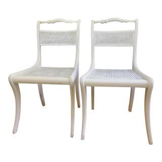 Antique French Caned Chairs - A Pair