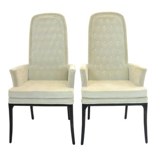 Sleek Set of two Original Tufted Erwin-Lambeth for Tomlinson Armchairs
