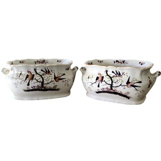 19th-C. English Staffordshire Foot Baths - A Pair