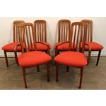 Image of Set of 6 Mid-Century Danish Modern Ansager Mobler Spindle Teak Dining Chairs