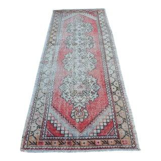 Antique Wool Oushak runner rug