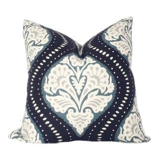 Custom Robert Allen Ogee Print Pillow Cover