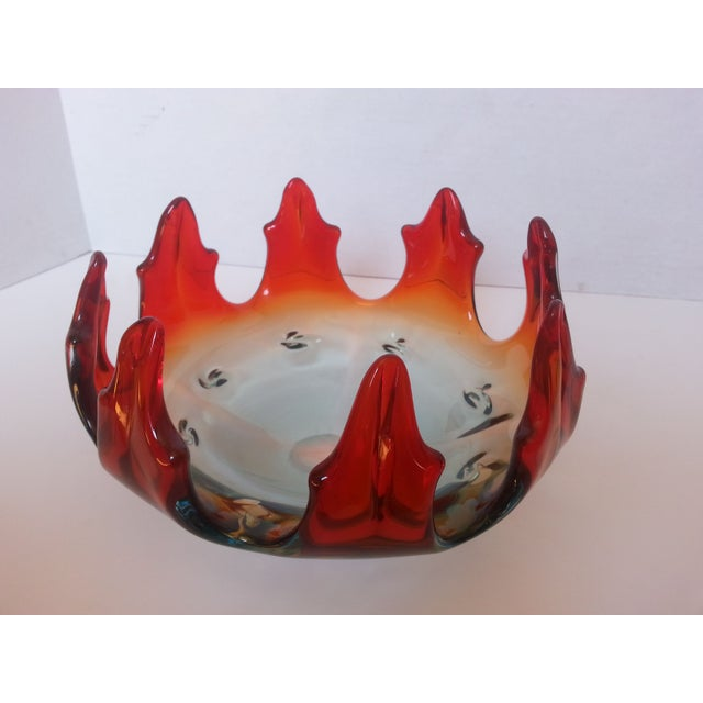 Image of Flame Design Glass Bowl