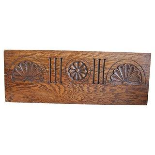 Antique Carved Oak Architectural Pediment