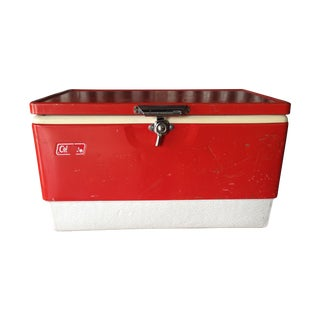 Vintage Large Red Coleman Cooler
