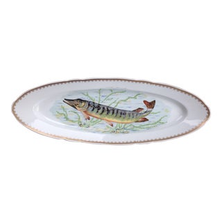 Hand Painted Couleuvre Fish Platter