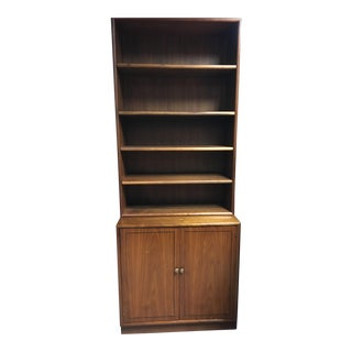 Kipp Stewart for Drexel Declaration Walnut Bookcase/Bookshelf