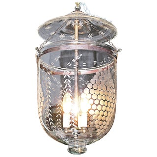 Apothecary Etched Glass Fixture
