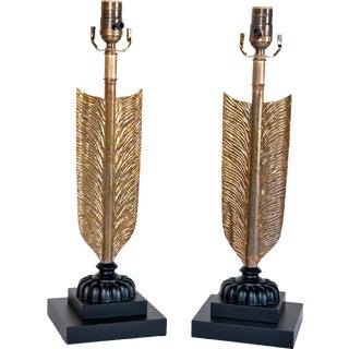 Large 'Arrow' Lamps - A Pair