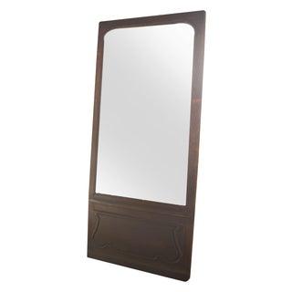 Vintage Solid Wood Door with Mirror Inlay