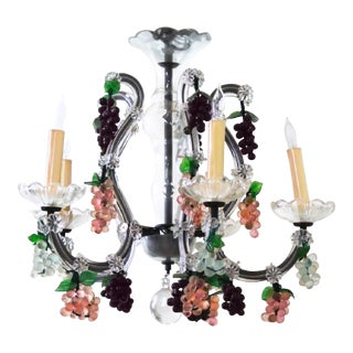 Mid-Century Venetian 'Dionysian Spring' Chandelier