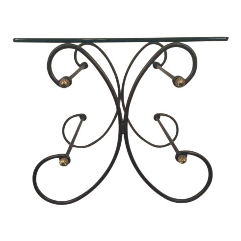 Iron and Glass Side Table - Image 1 of 6